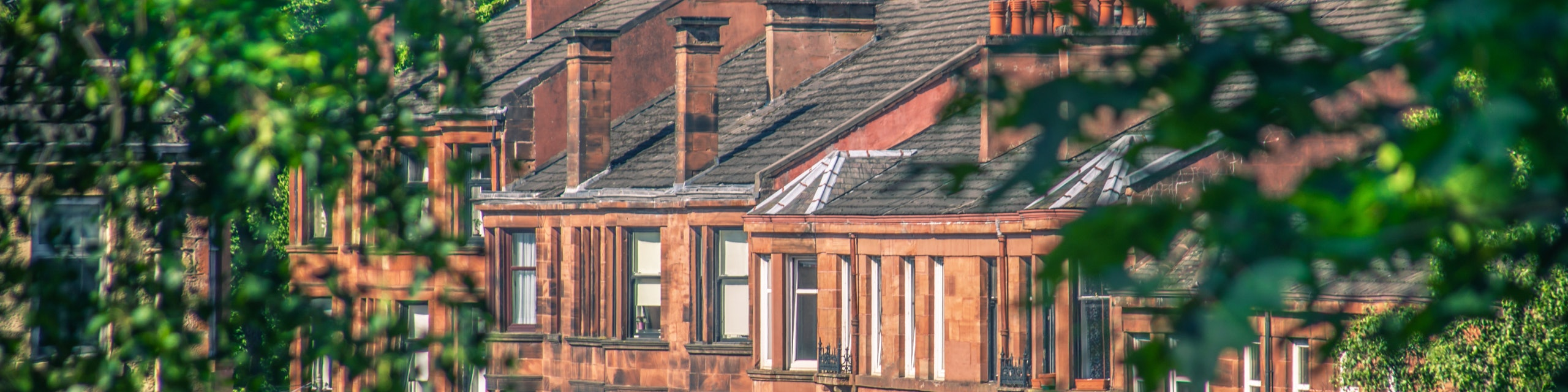 A row of houses in Glasgow