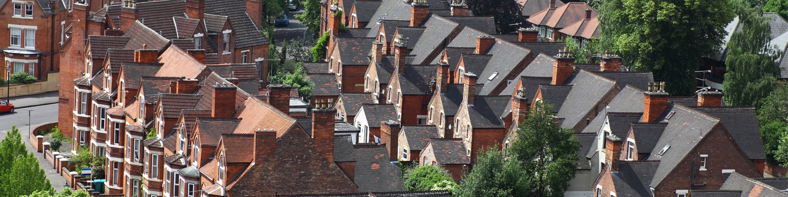 A row of houses in Nottingham